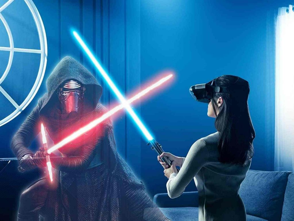lenovo gafas realidad virtual star wars vr + espada láser